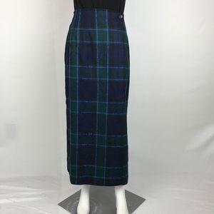 Vintage Pendleton Wrap Maxi Skirt 100% Pure Wool